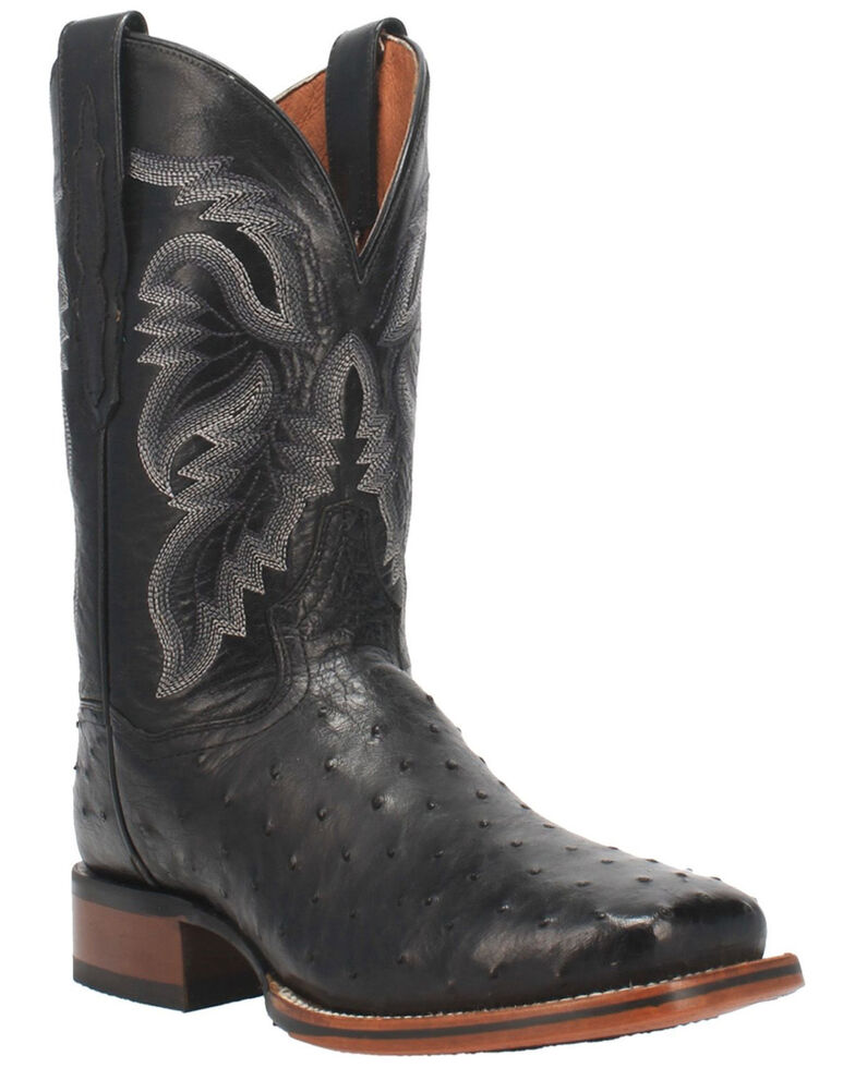 Dan Post Men's Alamosa Western Boots - Wide Square Toe, Black, hi-res