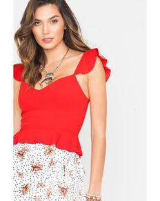 Sage the Label Women's Red Cherry Crop Top, Red, hi-res