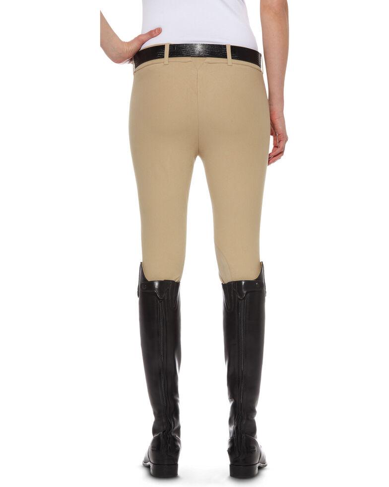 Ariat Women's Heritage Knee Patch Side-Zip Breeches, Tan, hi-res