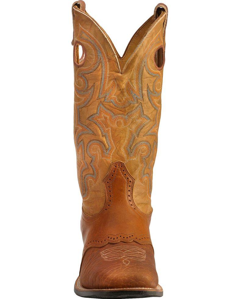 """Boulet Men's 13"""" Saddle Vamp Wide Square Toe Boots, Sand, hi-res"""
