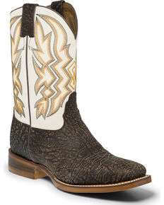 "Nocona Men's 11"" Western Boots, Chocolate, hi-res"