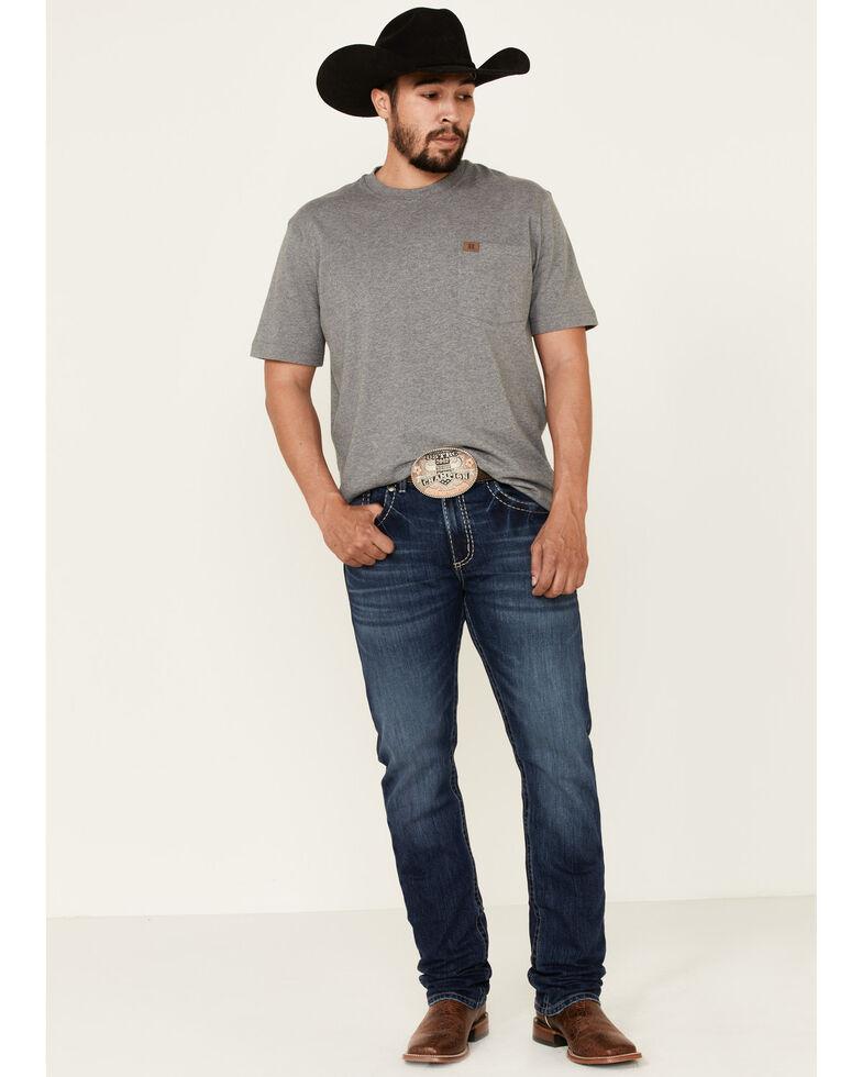Rock 47 By Wrangler Men's Studio Med Stretch Slim Straight Jeans , Blue, hi-res