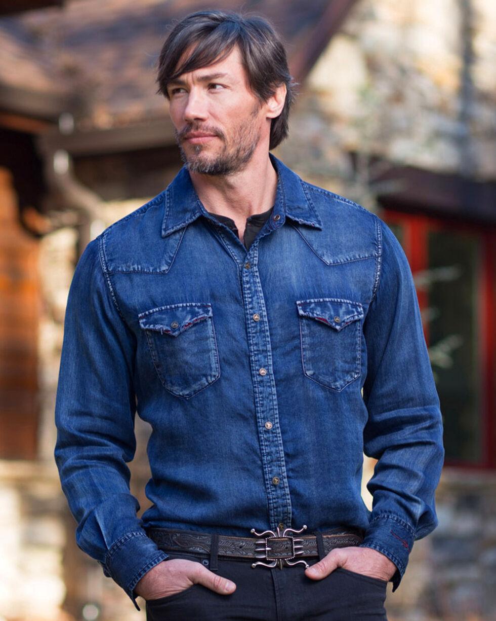 Ryan Michael Men's Indigo Velvet Shirt , Indigo, hi-res