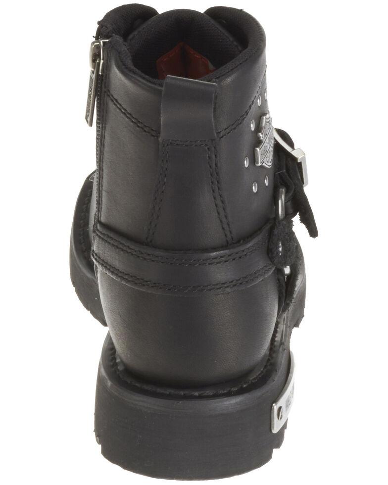 Harley Davidson Women's Becky Moto Boots - Round Toe, Black, hi-res