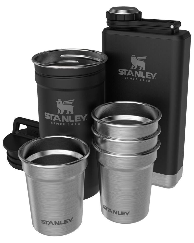 Stanley Black Adventure Shot Glass & Flask Set, Black, hi-res