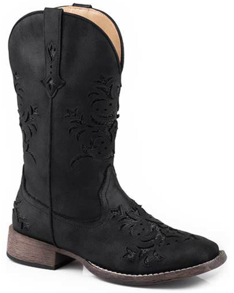 Roper Women's Kennedy Western Boots - Square Toe, Black, hi-res