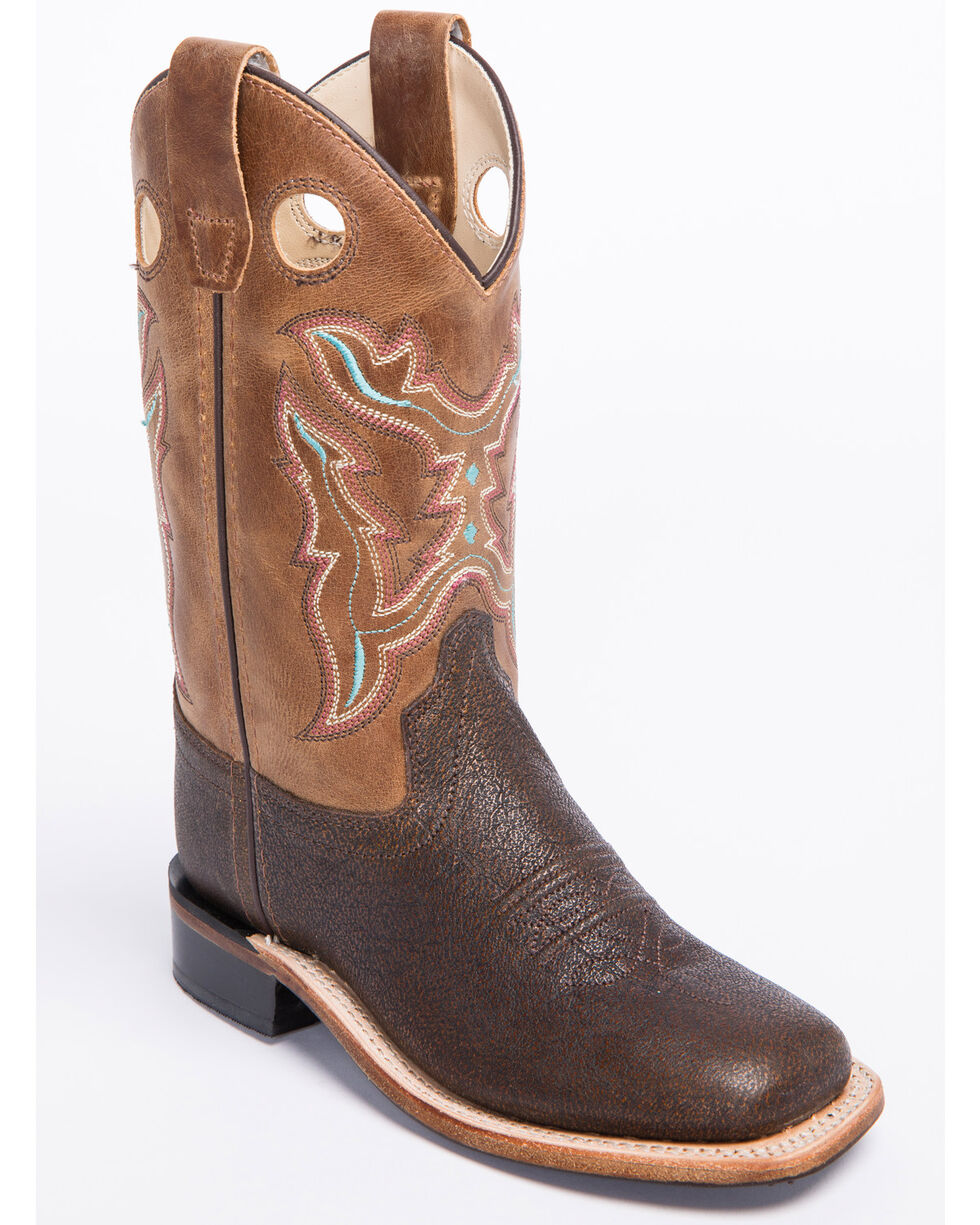 """Cody James Boys' 9"""" Western Boots - Wide Square Toe, Brown, hi-res"""