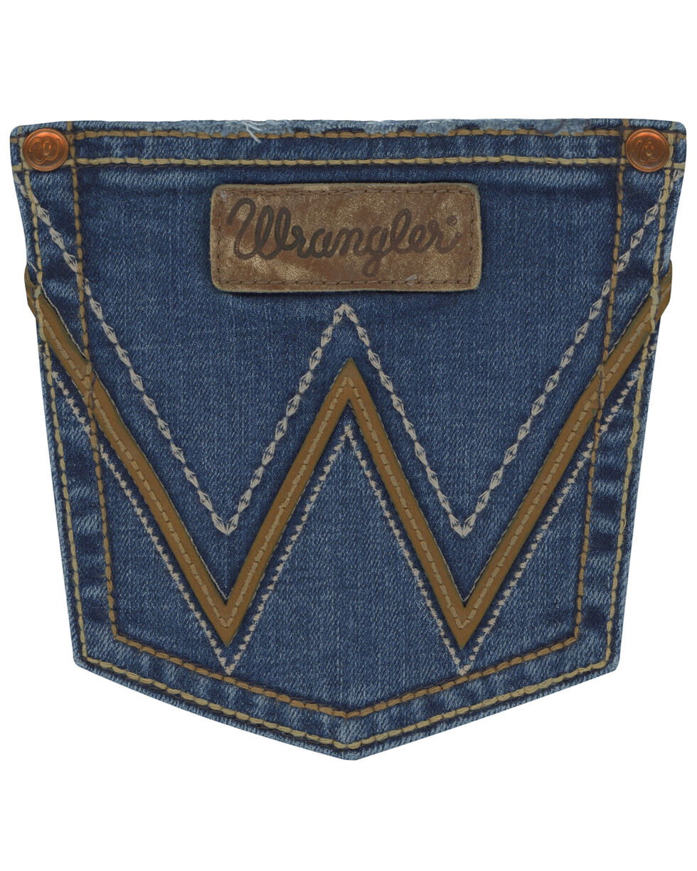 Wrangler Women's Tombstone RETRO Sadie Boot Cut Jeans , Indigo, hi-res