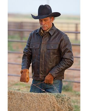 STS Ranchwear Men's Maverick Brown Leather Jacket - Big & Tall - 2XL & 3XL, Brown, hi-res