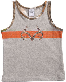Realtree Toddler Boys' Stinger Tank Top, Grey, hi-res