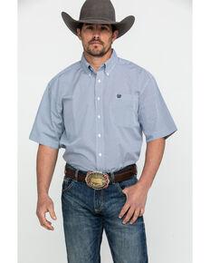 a6916b83cce50d Cinch Men's Tencel Geo Print Short Sleeve Western Shirt