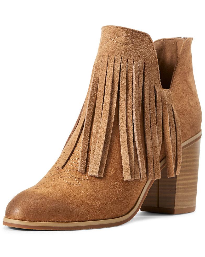 Ariat Women's Unbridled Jaxon Fashion Booties - Round Toe, Brown, hi-res