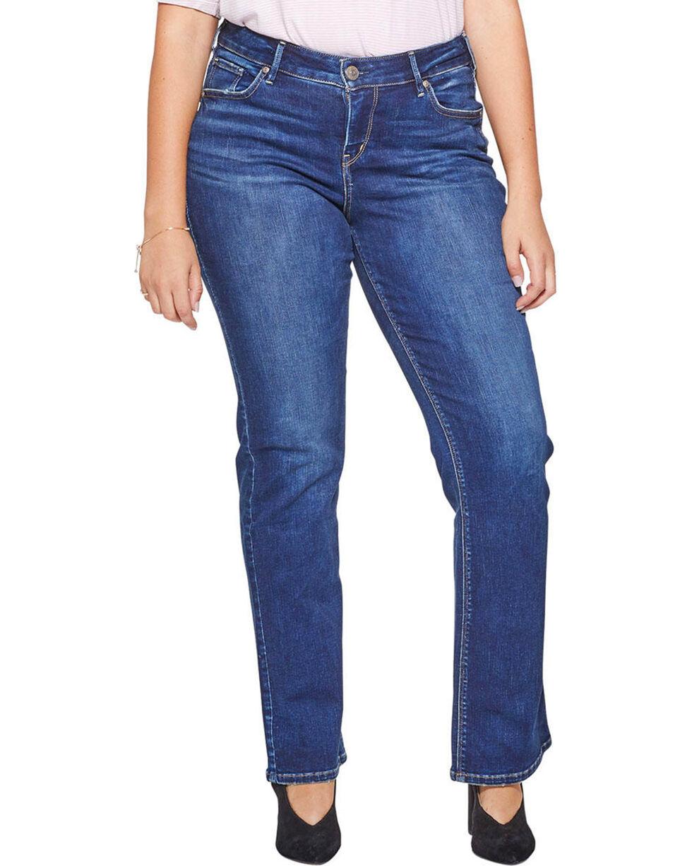 Silver Jeans Women's Avery Slim Fit Boot Cut Jeans - Plus, Indigo, hi-res