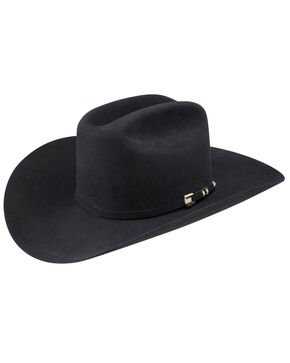 Stetson Men's Diamante 1000X Fur Felt Cowboy Hat, Black, hi-res