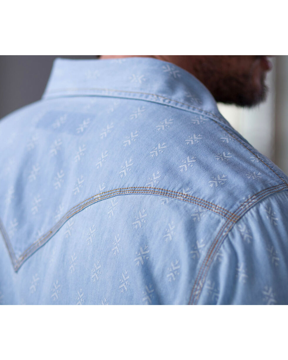 Ryan Michael Men's Chambray Indigo Print Shirt, Indigo, hi-res