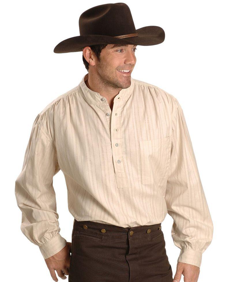 Rangewear by Scully Men's Lightweight Railroader Long Sleeve Western Shirt , Natural, hi-res