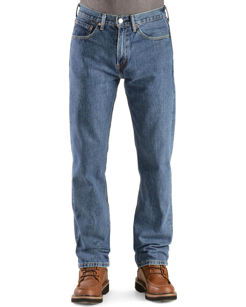 Levi's Men's 505 Straight Fit Jeans, Stonewash, hi-res