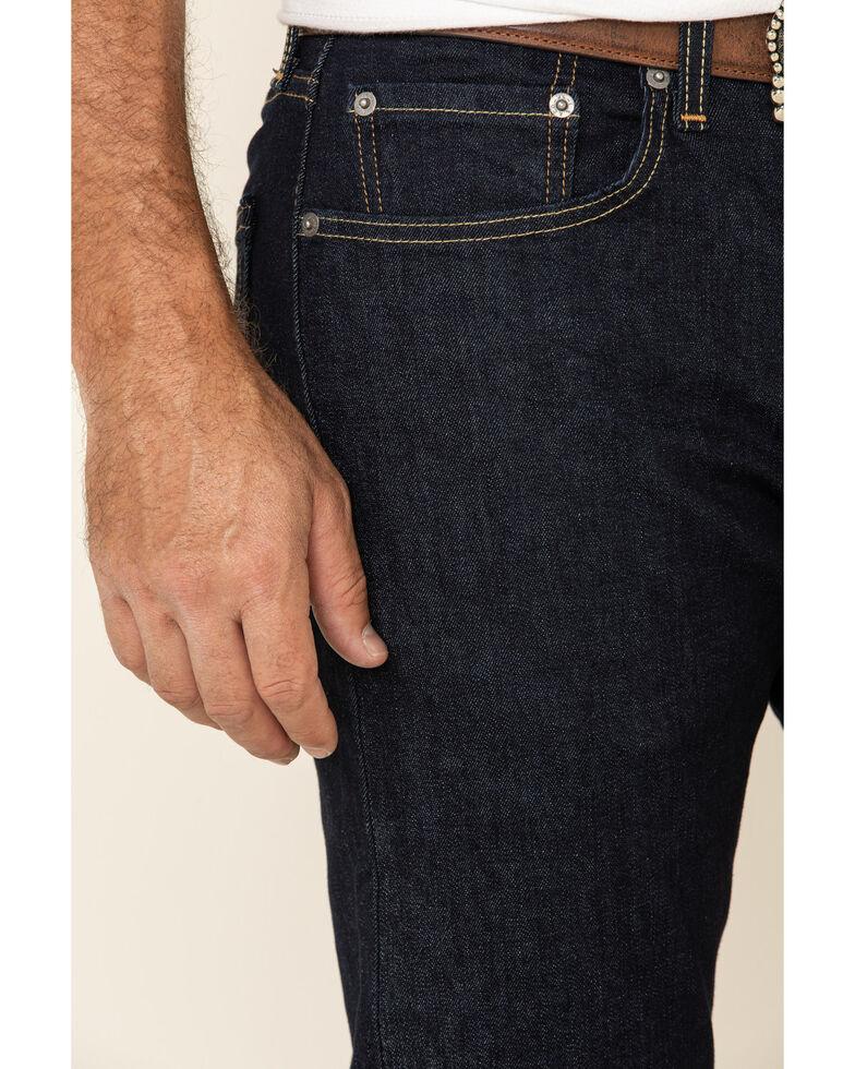 Levi's Men's 502 Rosefinch Regular Stretch Tapered Fit Jeans, Dark Blue, hi-res