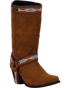 Dingo Women's Martine Fashion Western Boots, Rust, hi-res
