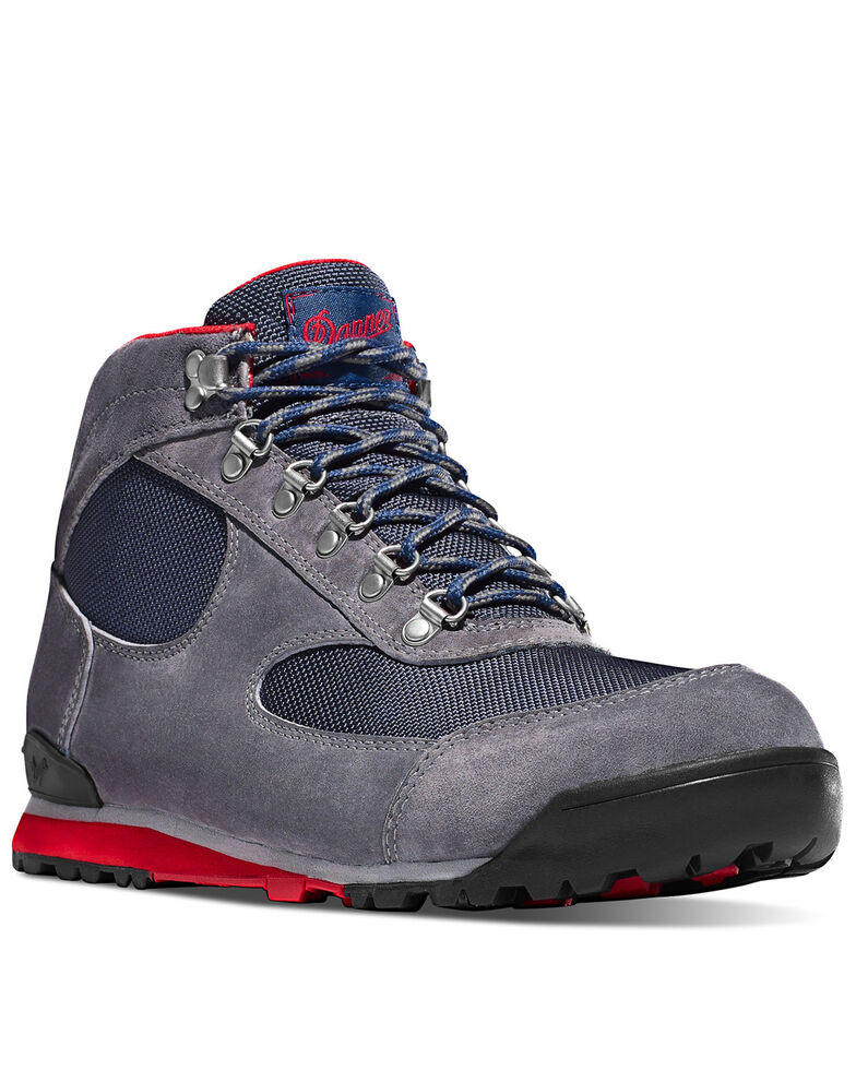 Danner Men's Jag Grey Work Boots - Steel Toe, Grey, hi-res