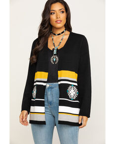 Cotton & Rye Outfitters Women's Aztec Motif Cardigan , Multi, hi-res