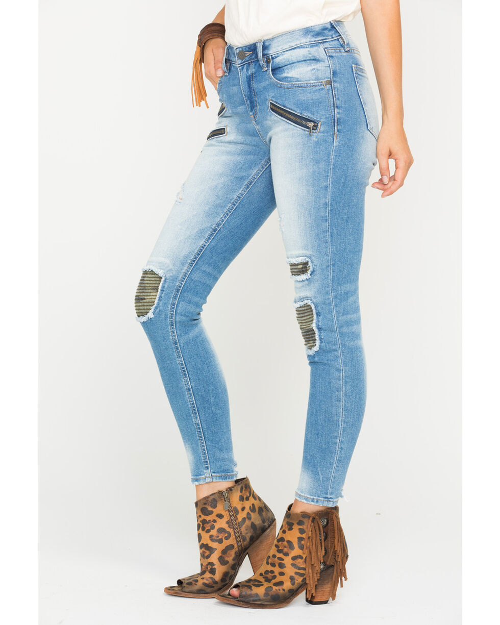 Miss Me Women's Mission Complete Mid-Rise Ankle Skinny Jeans , Indigo, hi-res