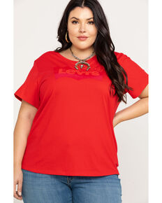 Levi's Women's Brilliant Red Perfect Tee - Plus, Red, hi-res