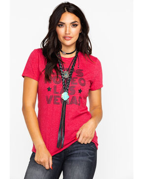 Ali Dee Women's Lets Rodeo Las Vegas Graphic Tee , Red, hi-res