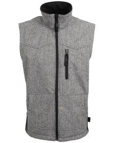 STS Ranchwear Men's 3X Light Leather Barrier Vest - Big , Heather Grey, hi-res