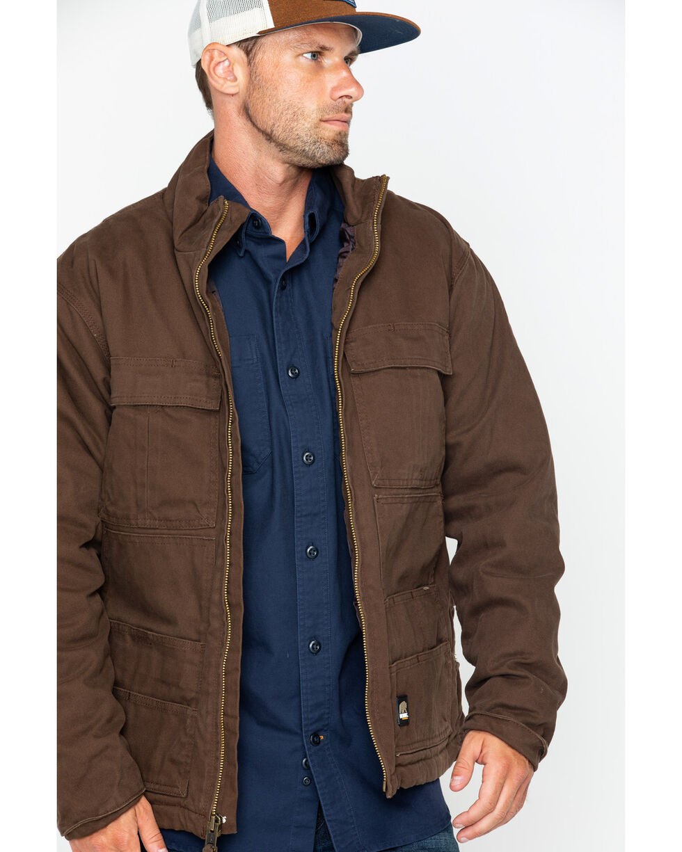 Berne Men's Flex 180 Washed Chore Work Coat - Big & Tall , Bark, hi-res