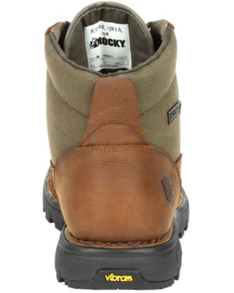 Rocky Men's Legacy 32 Waterproof Outdoor Boots - Soft Toe, Green/brown, hi-res