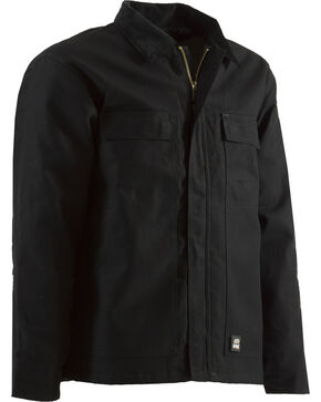 Berne Brown Duck Original Chore Coat - Tall 2XT, Black, hi-res