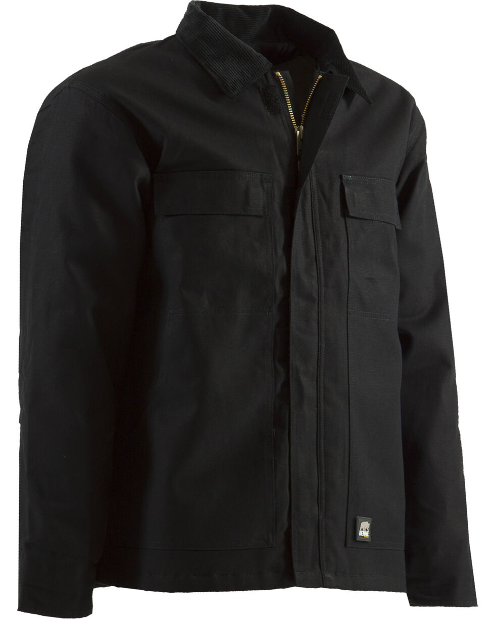 Berne Brown Duck Original Chore Coat - Tall 2XT, Black, hi-res