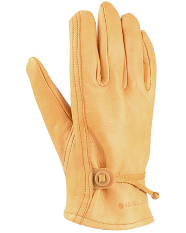 Carhartt Men's Leather Driving Gloves, Brown, hi-res