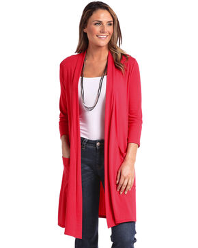 Panhandle Women's Double Pocket Duster , Red, hi-res