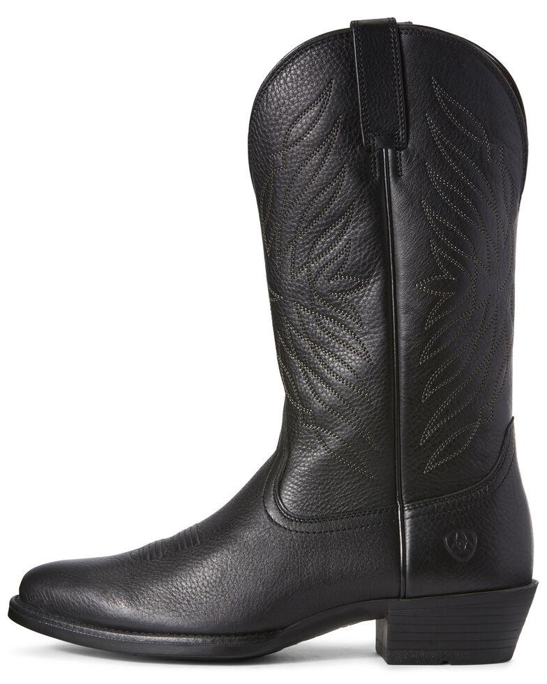 Ariat Men's Uptown Ultra Western Boots - Round Toe, Black, hi-res