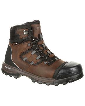 "Rocky Men's XO-Toe Waterproof 5"" Work Boots - Safety Toe, Brown, hi-res"
