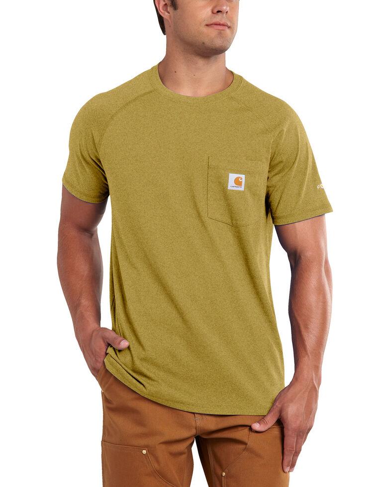 Carhartt Force Cotton Short Sleeve Shirt, Gold, hi-res