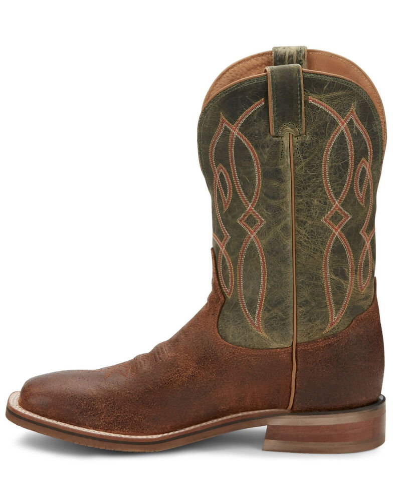 Tony Lama Men's Landgrab Brown Western Boots - Wide Square Toe, Brown, hi-res