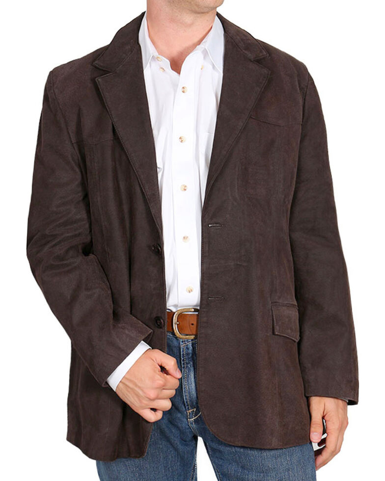 Cody James Men's Blazer , Dark Brown, hi-res