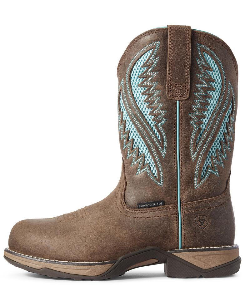 Ariat Women's Anthem VentTEK Western Work Boots - Composite Toe, Brown, hi-res
