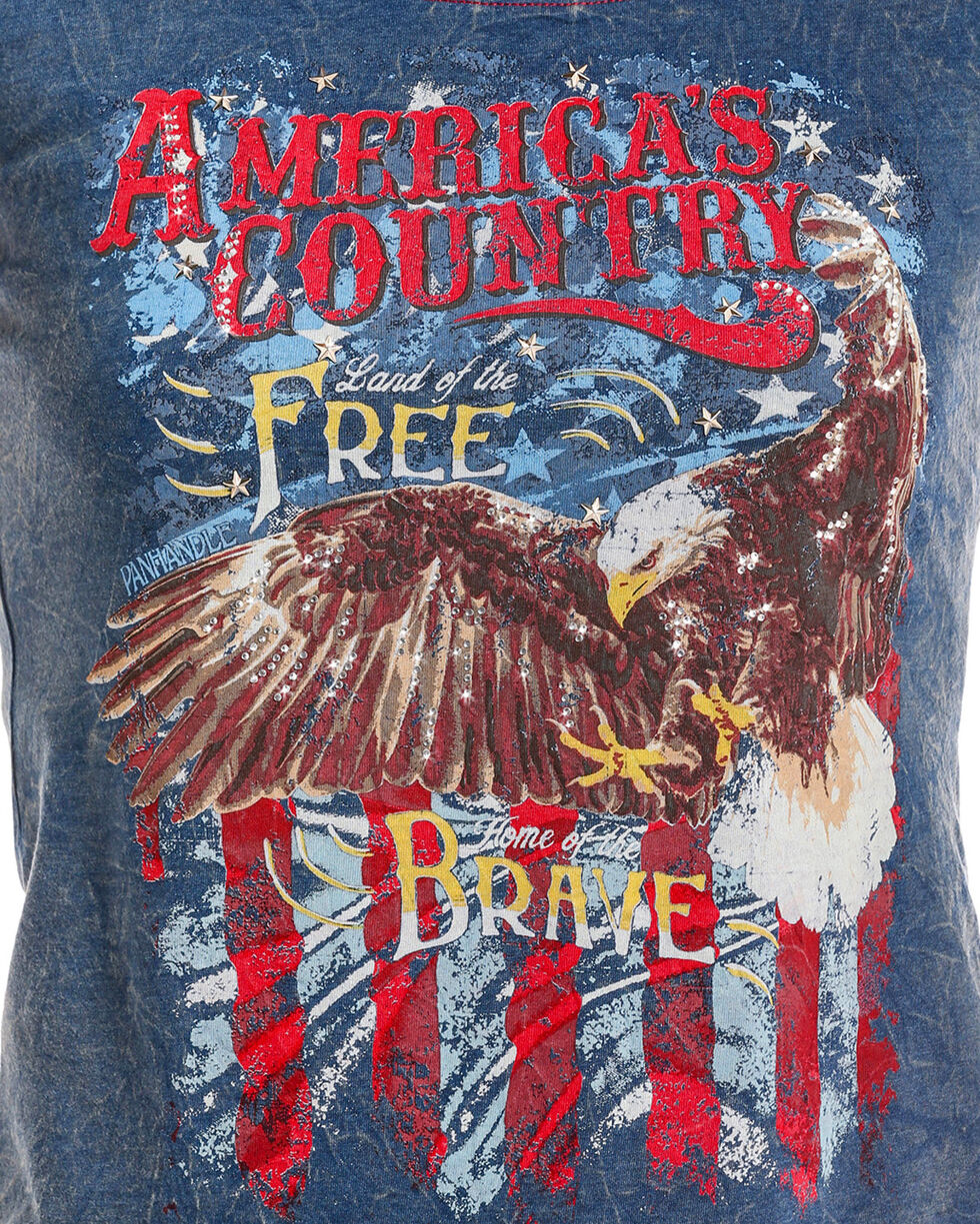 Panhandle Women's America's Country Eagle Tee, Navy, hi-res