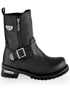 Milwaukee Motorcycle Clothing Co. Men's Afterburner Moto Boots - Round Toe, Black, hi-res