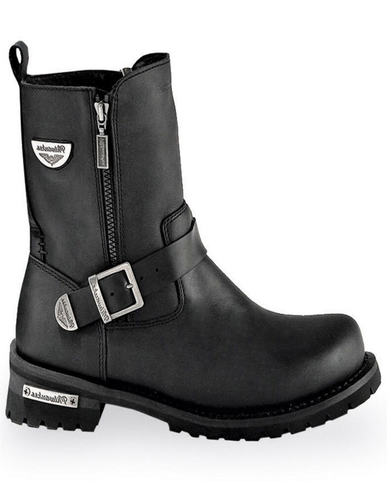 Milwaukee Motorcycle Clothing Co. Men's Afterburner Moto Boots - Round Toe, Black, hi-res