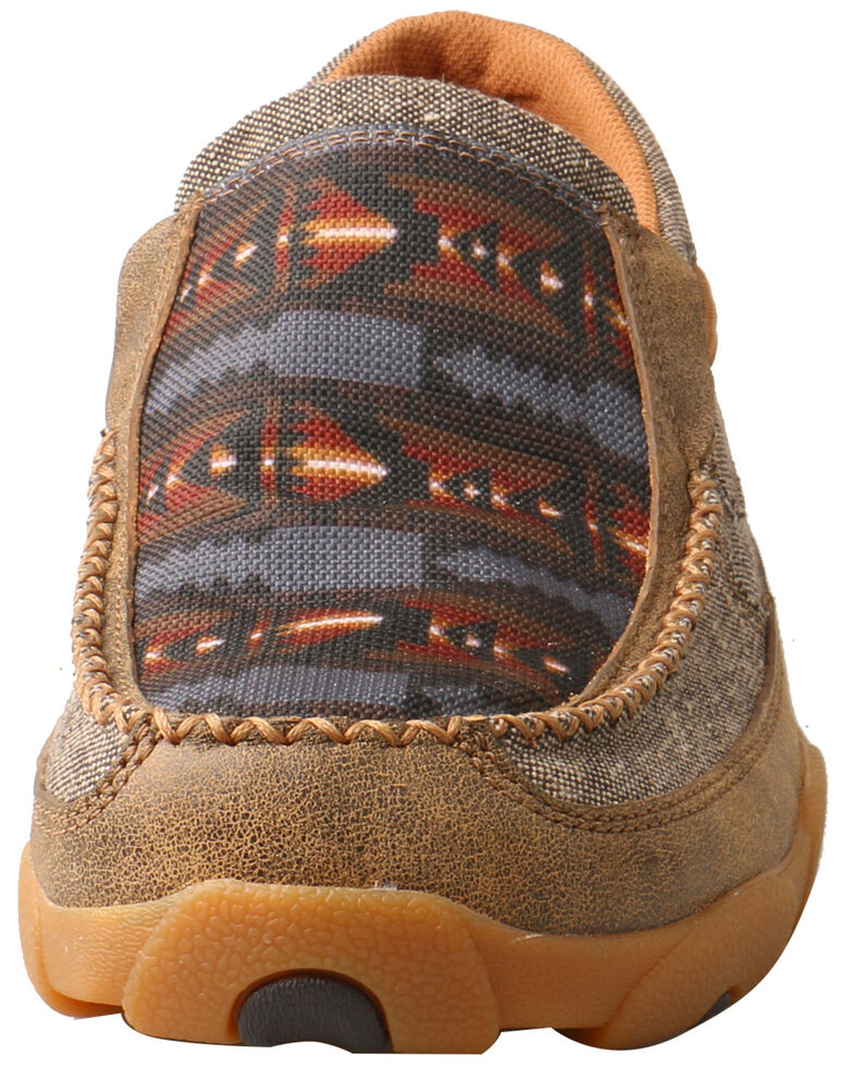 Twisted X Men's Aztec Driving Shoes - Moc Toe, Grey, hi-res