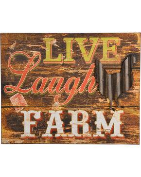 BB Ranch Live Laugh Farm Wall Sign, Multi, hi-res