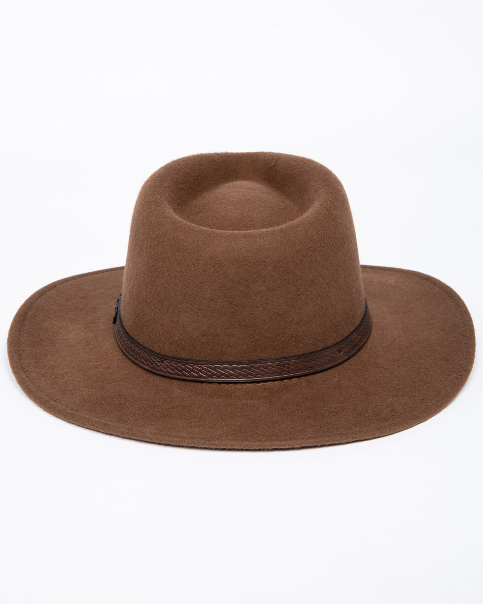 Dorfman Men's Durango Felt Hat, Pecan, hi-res