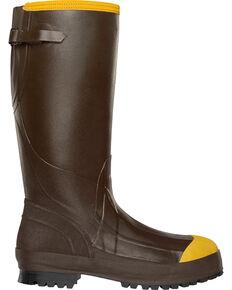 "Lacrosse Men's Alpha Aggressive 16"" Steel Toe Work Boots, Brown, hi-res"