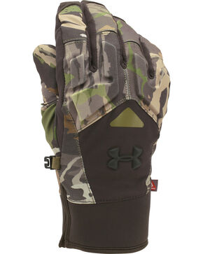 Under Armour Men's Forest Camo Scent Control 2.0 Primer Gloves , Camouflage, hi-res