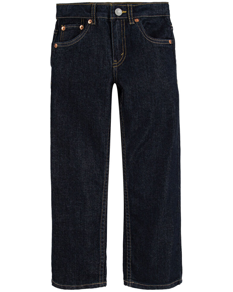 Levi's Boys' 514 Dark Rinse Tumble Straight Leg Jeans , Dark Blue, hi-res